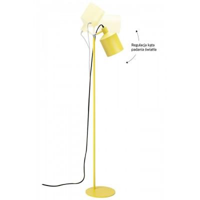 King Home Lampa podłogowa LEKTOR żółta - aluminium XCF7393