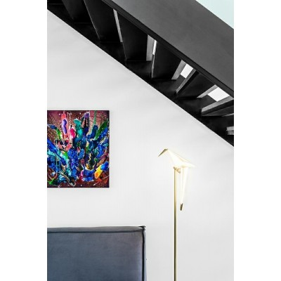 King Home Lampa podłogowa LORO FLOOR złota - LED ML8113-1