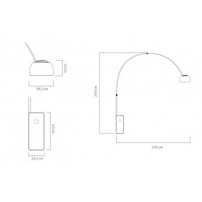 King Home Lampa podłogowa MARMO biała - stal nierdzewna, marmur 375A