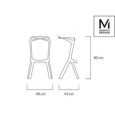 Modesto Design MODESTO hoker MIURA czarny - polipropylen C1065H.BLACK