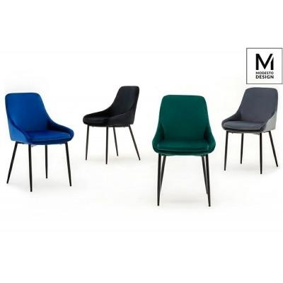 Modesto Design MODESTO krzesło CLOVER czarne - welur, metal J-03.BLACK