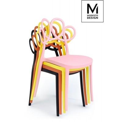 Modesto Design MODESTO krzesło LOOPY czarne - polipropylen D-001.BLACK